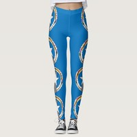 Leggings with flag of Northern Mariana, USA