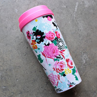 ban.do 'hot stuff' thermal travel mug - florabunda