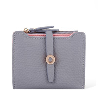 2017 Latest Lovely Leather Small Women Wallet Fashion Girls Change Clasp Purse Money Coin Card Holders Kids Wallets Carteras