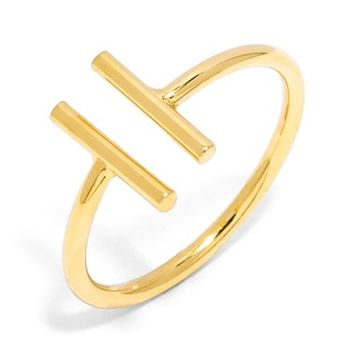 Women's BaubleBar Parallel Bar Ring - Gold