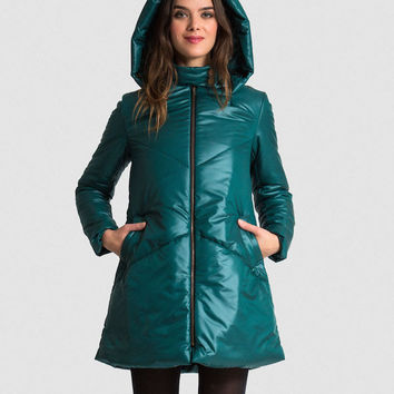20% OFF CODE: The EMMY A-Line Snow Coat - Forest