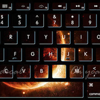 Solar flare keyboard decal MacBook decal MacBook air sticker MacBook pro decal J-004