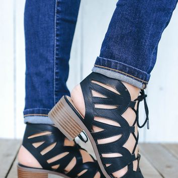 Twin Cities Heeled Sandals - Black