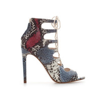 SNAKESKIN LEATHER HIGH HEEL ANKLE BOOT
