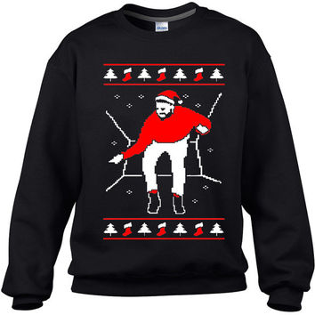 Black Funny 1800 Santa Bling Hotline Sweaters, Best ugly Christmas Sweaters 2015, New Xmas Ugly Sweaters, Xmas Bling Popular Sweatshirts,