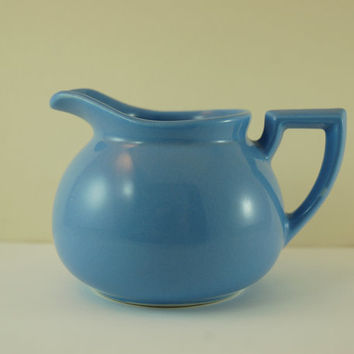 Vintage Lipton's Tea Creamer, Hall China, Cornflower Blue