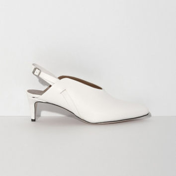 ATP Atelier Abra Slingback in White | The Dreslyn