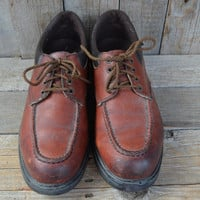 Vintage Moc Toe RED WING Low Top Work Boots, 11