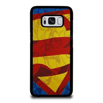 SUPERMAN LOGO COMIC Samsung Galaxy S8 Case Cover
