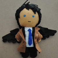 Castiel / Crowley plush from the tv show Supernatural. Angel, demonplush. Ask for more characters