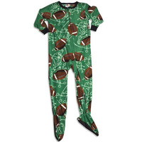 Fun Footies Boys Fleece Footed Pajamas