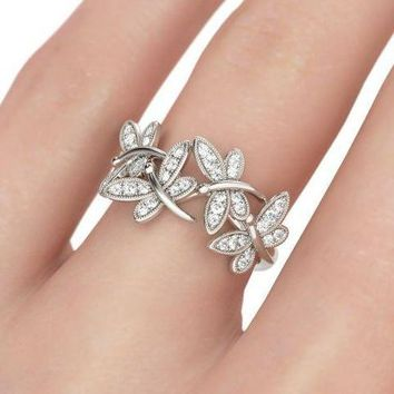 The Butterfly, a 2.82TCW Luxury Russian lab Diamond Ring