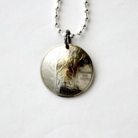 Vermont State Quarter  Necklace, Domed Coin Pendant, U.S. Quarter Dollar, 2001, Freedom and Unity Jewelry by Hendywood