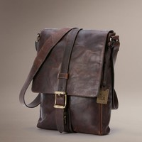 Dark Brown Logan Small Messenger by TheFryeCompany, PCS