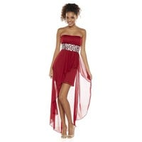 Speechless Hi-Low Gem Tube Dress - Juniors, Size: