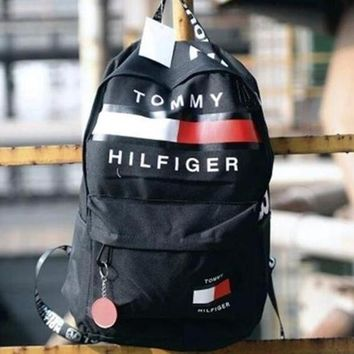 Tommy Hilfiger Casual Sport Laptop Bag Shoulder School Bag Backpack