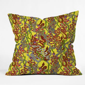 Sharon Turner Year Of The Snake Throw Pillow