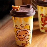 San-X Rilakkuma Bear anti-leak ceramic coffee mug coffee cup