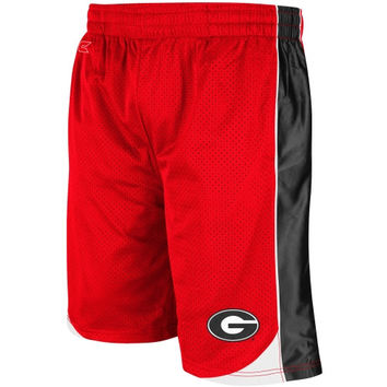 Georgia Bulldogs Vector Mesh Shorts – Red