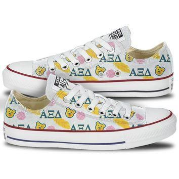 Alpha Xi Delta Bear & Quill Low Top Custom Converse