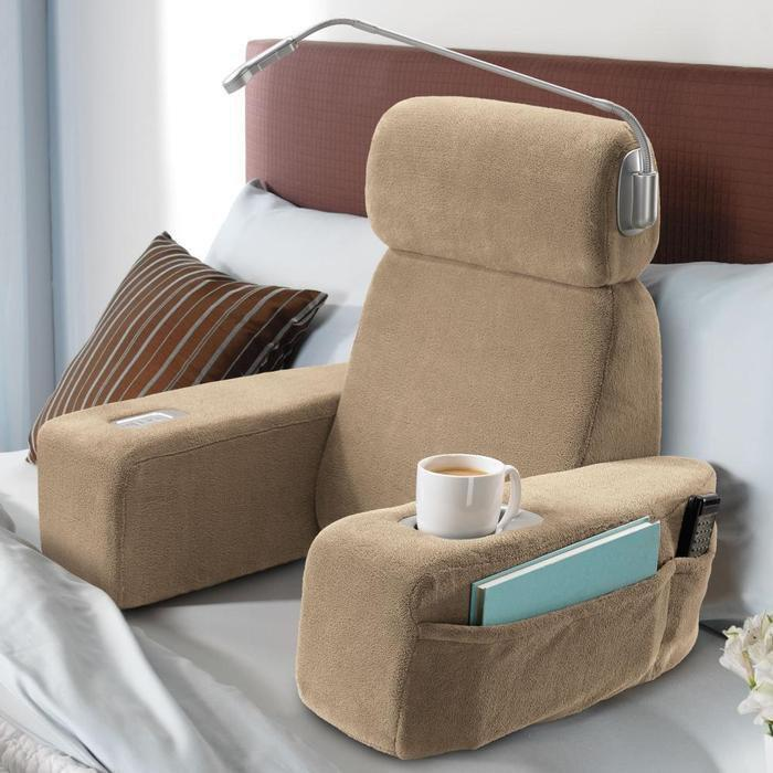 Massaging Sit-Up Pillow with Arms at Brookstoneâ??Buy Now!