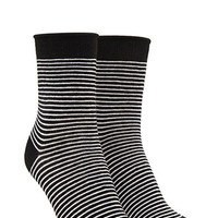 Raw-Cut Striped Crew Socks