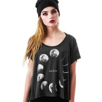 Female Summer T shirt Women Tops 2016 Moon 3D Print T-shirt Femme Graphic Tees Harajuku Shirt Women Punk Rock Camisetas Mujer
