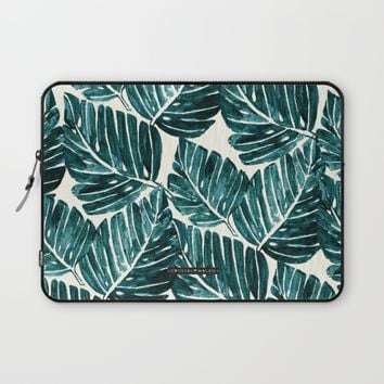Jungle Leaves Laptop Sleeve by CRYSTAL WALEN