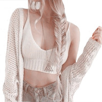 2016 Summer Sexy Fashion Brandy Melville Crop Top Bustier Tops Hand Crochet Bohu Cropped Tops Women Tanks &Camis Blusas Feminino