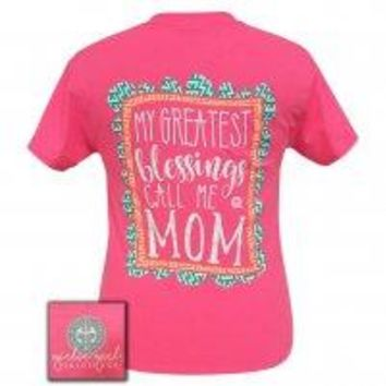 "Girlie Girl ""Blessings Mom"" Short Sleeve Tee"