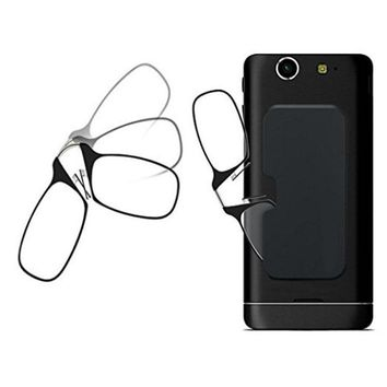 Stick Anywhere, Go Everywhere Women Men Reading Glasses Plus Universal Pod Case,black Frame, Case SOS +1.0 +1.5 +2.0 +2.5 +3.0