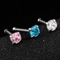 1Pc Surgical Steel Crystal Nose Ring Piercing Nez Nose Piercing Nose Stud Nose Cartilage Piercing