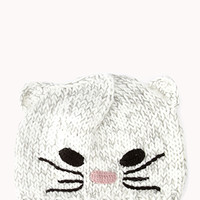 Cozy Cat Open-Knit Beanie