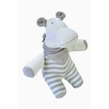 Organic Cotton Hippo Toy for Baby