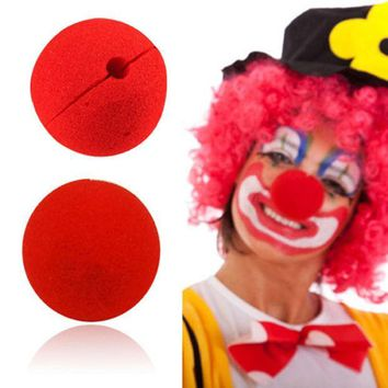ICIK272 10pcs/set Cute Clown Nose Red Sponge Nose Sponge Ball Red Clown Magic Nose for Halloween Party Decoration Accessory