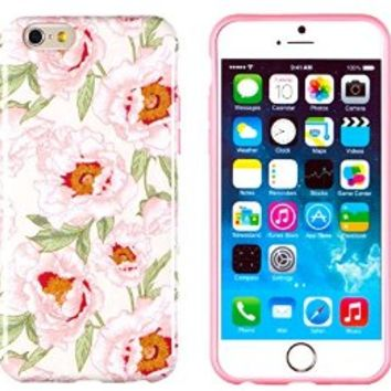 """iPhone 6 Case, DandyCase PERFECT PATTERN *No Chip/No Peel* Flexible Slim Case Cover for Apple iPhone 6 (4.7"""" screen) - LIFETIME WARRANTY [Vintage Pink Floral]"""