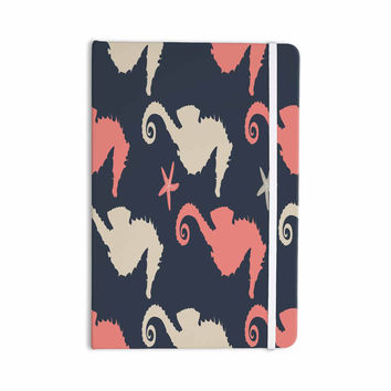"afe images ""Gray and Coral Seahorses"" Coral Gray Digital Everything Notebook"