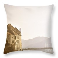 """Mystical Chateau Chillon Throw Pillow for Sale by Ivy Ho - 16"""" x 16"""""""