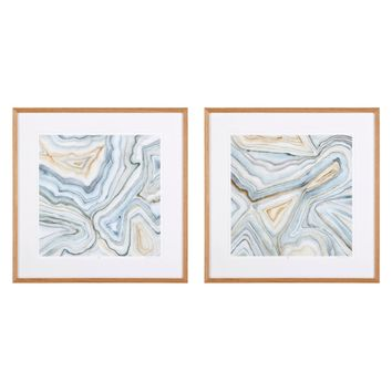 Abstract Prints (set of 2) | Eichholtz Agate