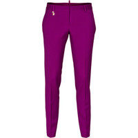 DSQUARED Cool Girl Pleat Suit Violet Gold Virgine wool pants with crease