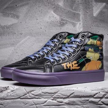 ESBONS Trendsetter Vans X Peanuts SK8-Hi Simpsons Leather Flats Ankle Boots Sneakers Sport Sh