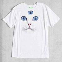 WOWCH Third Eye Cat Tee- White