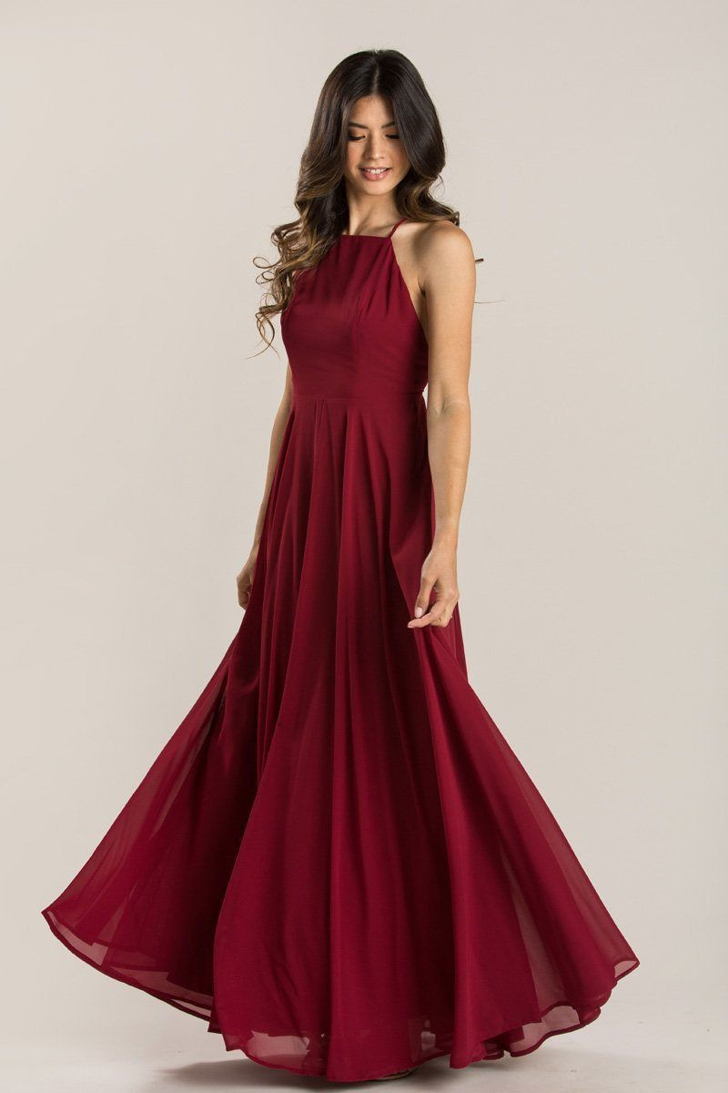 8a92297d Emma Burgundy Flowy Maxi Dress from Morning Lavender | Things I