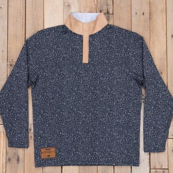 Southern Marsh Cascade Herringbone Pullover - Washed Navy