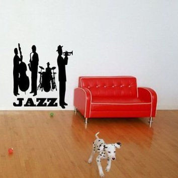 Jazz Band Concert Music Wall Art Sticker Decal t344