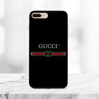 Top Luxury!!!Gucci.8I3 Stripe Logo iPhone 7 and 7 Plus Hard Protect Case
