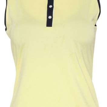 Sport Haley Ladies & Plus Size Addison Sleeveless Colorblock Golf Polo Shirts - SUNKISSED (Sunkissed