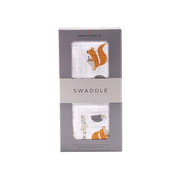 NEWCASTLE CLASSICS FOREST FRIENDS SWADDLE