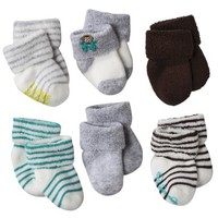 JUST ONE YOU Monkey NBB 6pk Terry Cuff - 0-3 M