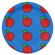 Paper Plate with Red Apples on Blue 9 Inch Paper Plate